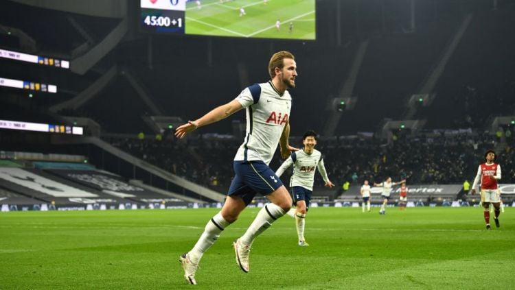 Manchester City kembali siap guncangkan jagad transfer setelah mereka diketahui sudah menyiapkan dana fantastis untuk menebus Harry Kane dari Tottenham Hotspur. Copyright: © Glyn Kirk/PA Images via Getty Images