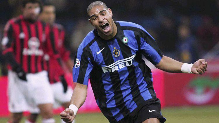Selebrasi Adriano Leite usai membukukan gol kemenangan Inter Milan atas AC Milan di pengujung pertandingan Serie A Italia, 11 Desember 2005. Copyright: © ESPN Brasil
