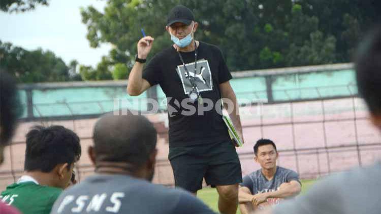 Klub Liga 2, PSMS Medan, dijadwalkan segera menggelar latihan atau training camp (TC) kembali, meski seluruh skuat tim belum komplit. Copyright: © Aldi Aulia Anwar/INDOSPORT