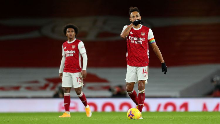 Pierre-Emerick Aubameyang pemain Arsenal Copyright: © Catherine Ivill/Getty Images