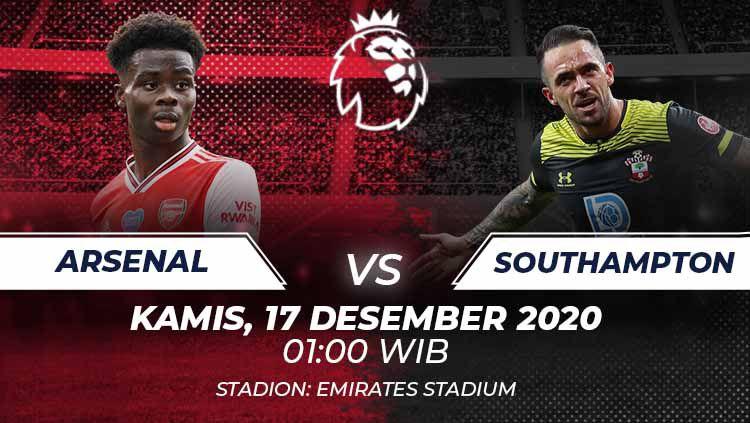 Arsenal akan menjamu Southampton di Liga Inggris, Kamis (17/12/20) dini hari WIB. Laga ini terbilang sulit bagi Arsenal karena Soton tengah dalam performa terbaik. Copyright: © Grafis:Frmn/Indosport.com