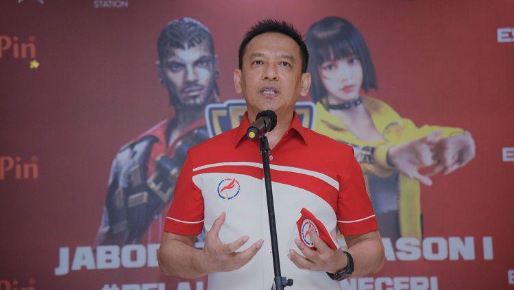 Ketua Harian Pengurus Besar (PB) Esport Indonesia, Bambang Sunarwibowo. Copyright: © PB Esport Indonesia