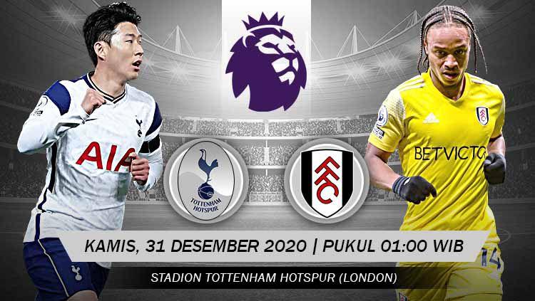 Pertandingan Tottenham Hotspur vs Fulham (Liga Inggris). Copyright: © Grafis: Yanto/Indosport.com