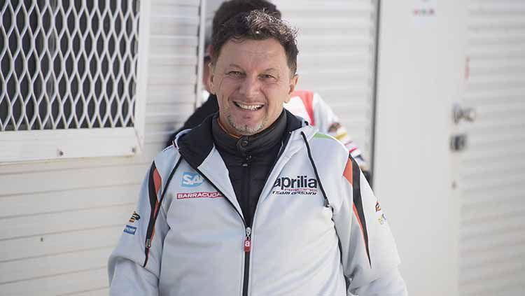 Sempat dibantah, tim MotoGP Gresini Racing mengumumkan bahwa bos mereka, Fausto Gresini, meninggal dunia usai 60 hari melawan Covid-19. Copyright: © Getty Images