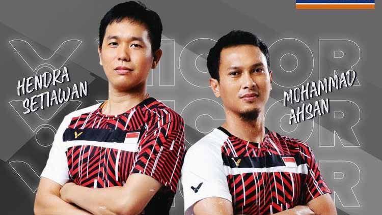 Hendra Setiawan dan Mohammad Ahsan termasuk di antara tujuh wakil bulutangkis Indonesia yang berangkat ke Olimpiade Tokyo Copyright: © Instagram/@victorsportofficial