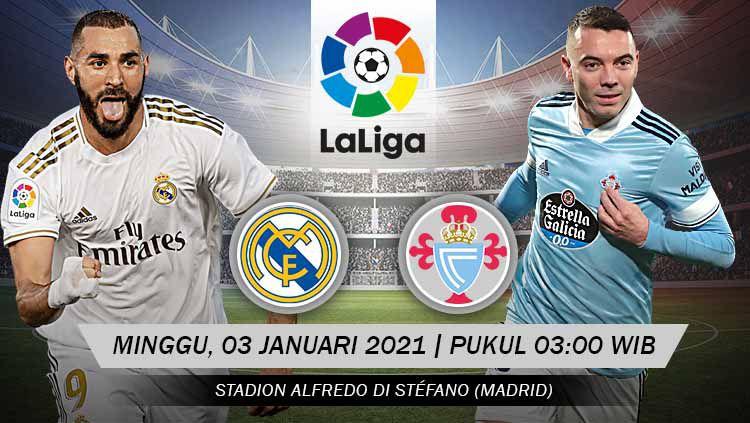 Pertandingan Real Madrid vs Celta de Vigo (LaLiga). Copyright: © Grafis: Yanto/Indosport.com