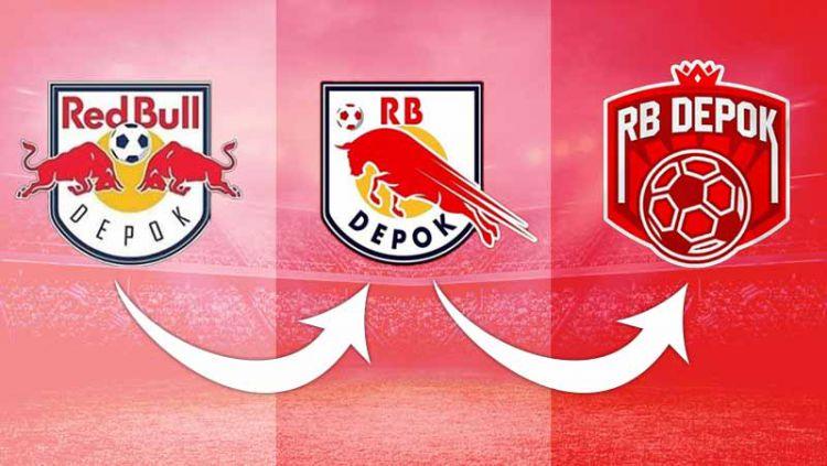 Transformasi logo RB Depok. Copyright: © Grafis: Yanto/Indosport.com