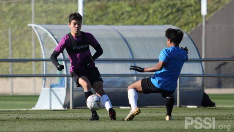 Kelana Mahessa sudah bergabung dengan TC Timnas Indonesia U-19 di Spanyol. Copyright: © PSSI