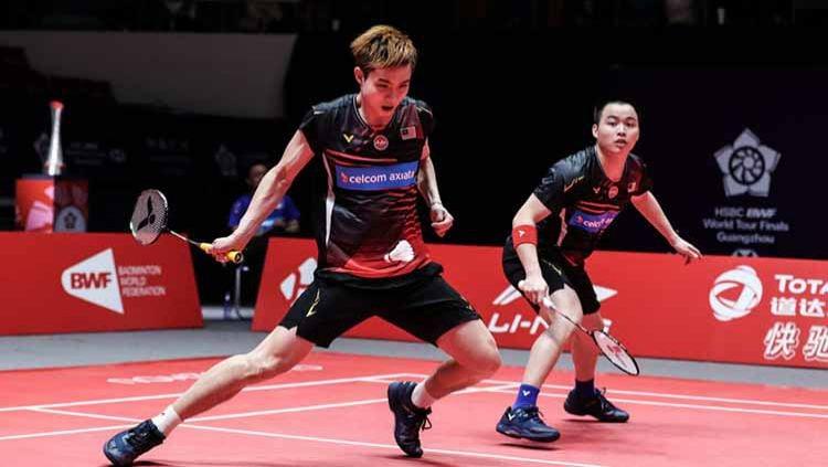Menjadi unggulan 1 di kompetisi Swiss Open 2021, pebulutangkis ganda putra Malaysia Aaron Chia mengaku takut terbebani? Copyright: © Shi Tang/Getty Images