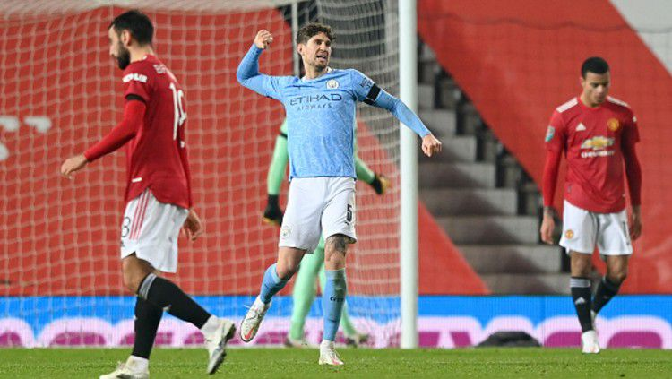 Fakta dan data jelang big match Liga Inggris antara Manchester City vs Manchester United, Minggu (07/03/21). Copyright: © (Photo by Shaun Botterill/Getty Images)
