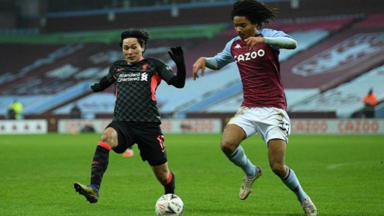 Terselip tiga fakta mengejutkan usai Liverpool membantai tuan rumah Aston Villa 1-4 dalam laga babak ketiga Piala FA. Copyright: © Twitter @LFC