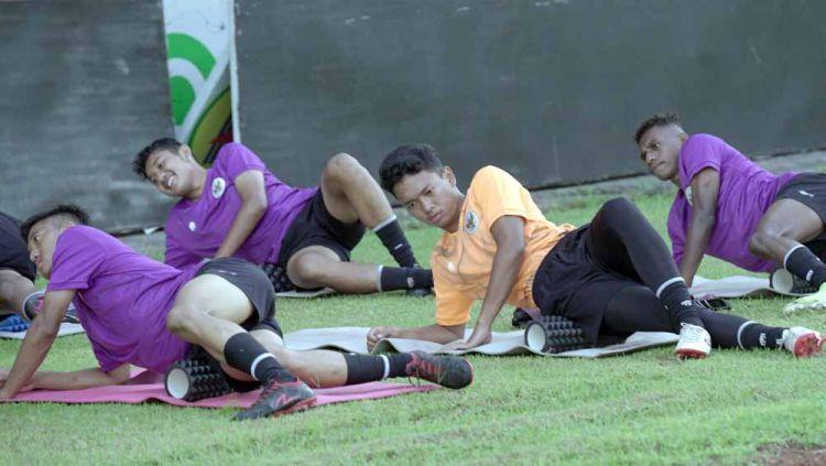 Latihan Timnas Indonesia U-16 saat menggelar TC di Yogyakarta beberapa waktu lalu. Copyright: © PSSI