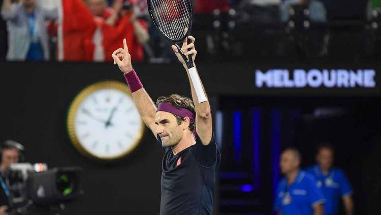 Petenis Swiss, Roger Federer. Copyright: © Kyodo News via Getty Images