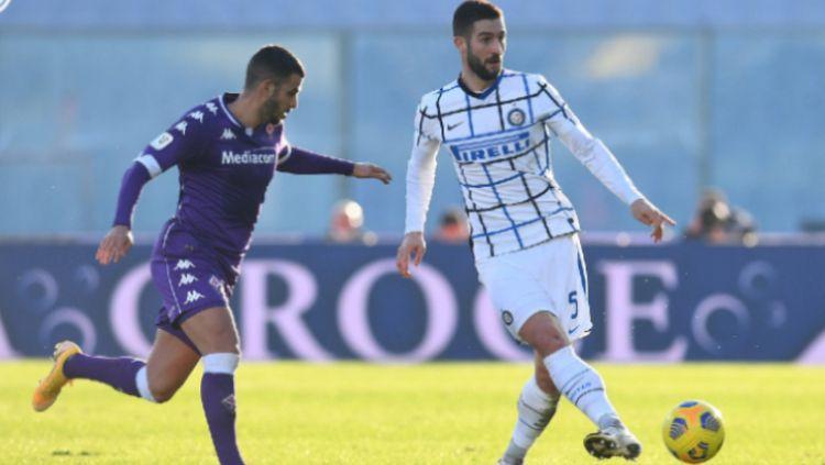 Pemain Inter Milan Saat Menghadapi FIorentina di Coppa Italia Copyright: © twitter.com/Inter_en