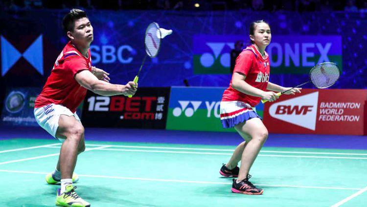 Pertandingan antara Supak Jomkoh/Supissara Paewsampran (Thailand) vs Praveen Jordan/Melati Daeva Oktavianti (Indonesia) di Thailand Open 2021. Copyright: © Shi Tang/Getty Images