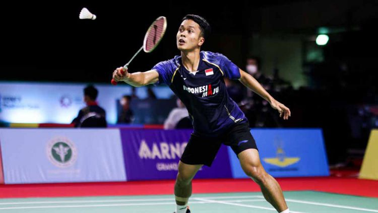 Pebulutangkis Indonesia, Anthony Sinisuka Ginting. Copyright: © Shi Tang/Getty Images