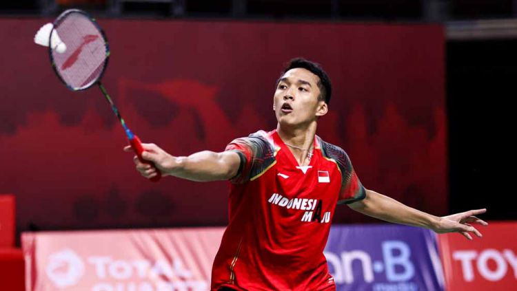 Pebulutangkis Indonesia, Jonatan Christie. Copyright: © Shi Tang/Getty Images