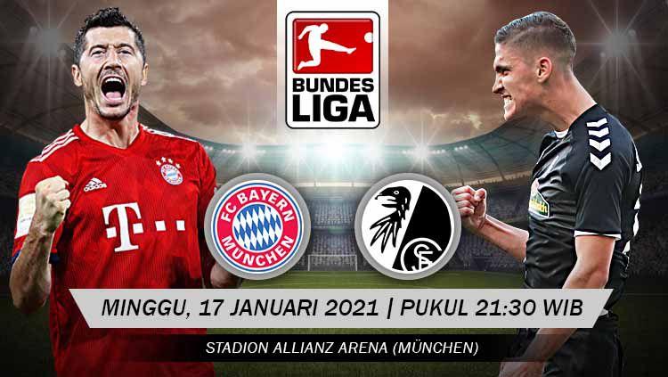 Pertandingan Bayern Munchen vs Freiburg (Bundesliga). Copyright: © Grafis:Yanto/Indosport.com