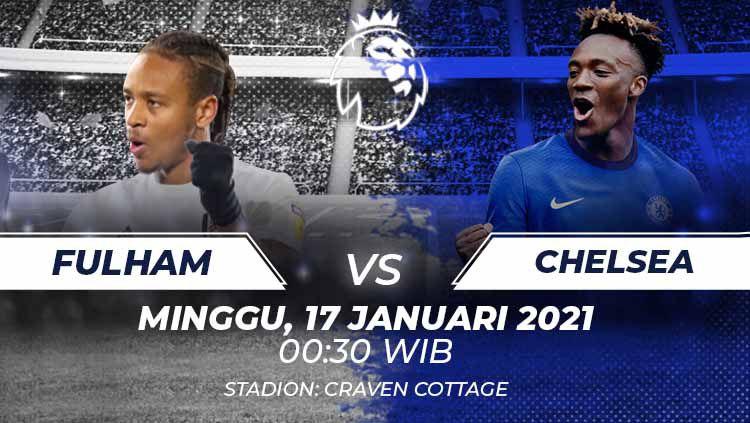 Fulham vs Chelsea di pekan ke-19 Liga Inggris 2020/21. Copyright: © Grafis:Frmn/Indosport.com