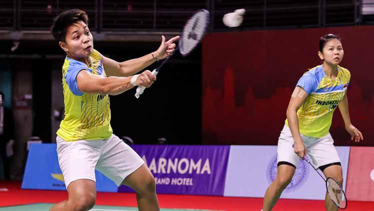 Pasangan Indonesia Greysia Polii/Apriyani Rahayu mengakui membutuhkan kekuatan ekstra meskipun bisa menang mudah atas wakil Denmark di Toyota Thailand Open 2021 Copyright: © Badminton Photo