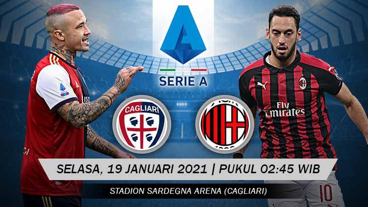 Prediksi Pertandingan Cagliari AC Milan (Serie A). Copyright: © Grafis:Yanto/Indosport.com