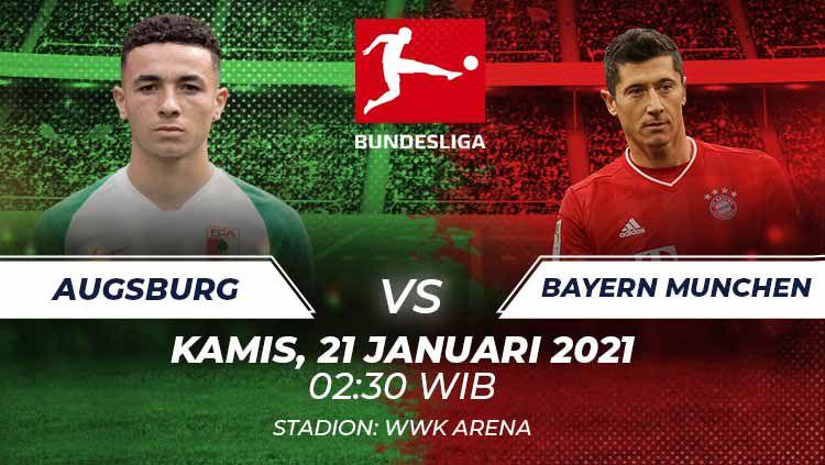 Berikut prediksi pertandingan Bundesliga Jerman antara FC Augsburg vs Bayern Munchen, Kamis (21/1/21) dini hari WIB. Copyright: © Grafis:Frmn/Indosport.com