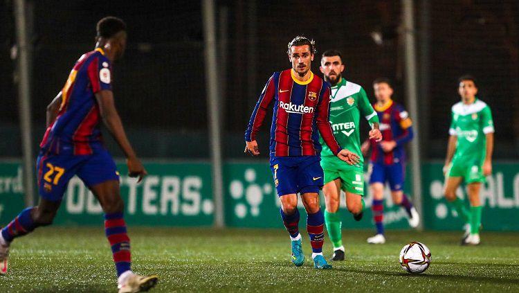 Mirip Real Madrid? UD Cornella sulitkan Barcelona di Copa del Rey. Copyright: © Twitter @FCBarcelona
