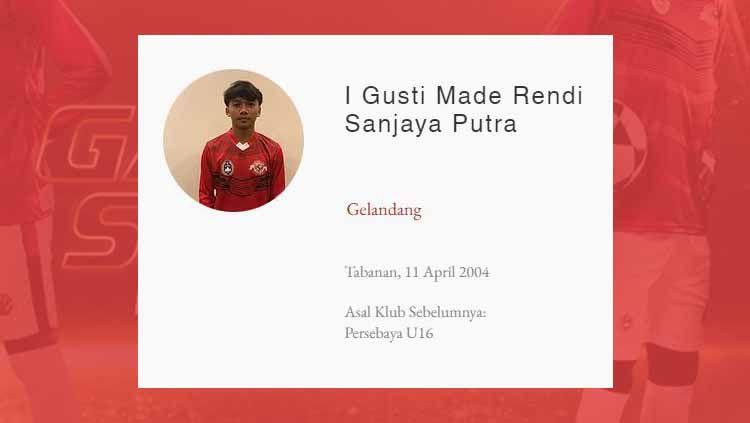 Pemain Garuda Select 3, I Gusti Made Rendy Sanjaya Putra. Copyright: © programgarudaselect.com