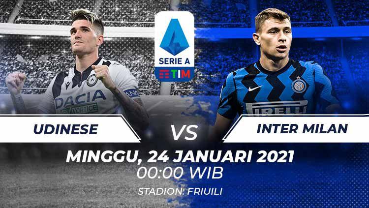 Link Live Streaming Serie A Liga Italia: Udinese vs Inter Milan Copyright: © Grafis:Frmn/Indosport.com