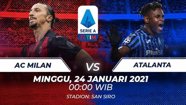 Link Live Streaming Serie A Liga Italia: AC Milan vs Atalanta Copyright: © Grafis:Frmn/Indosport.com