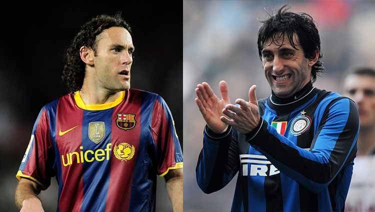 Gabriel dan Diego Milito, dua bersaudara yang pernah membela Barcelona dan Inter Milan. Copyright: © Getty Images