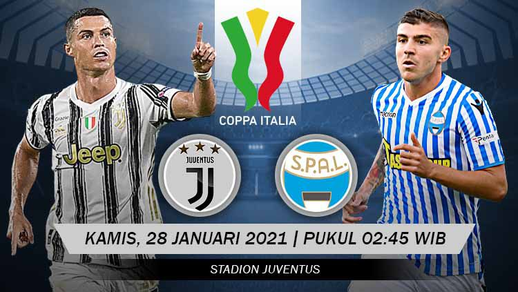 Link Live Streaming Perempat Final Coppa Italia: Juventus vs SPAL. Copyright: © Grafis:Yanto/Indosport.com