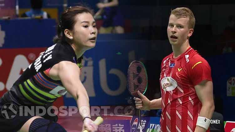 Kim Astrup dan Goh Liu Ying. Copyright: © Indosport.com/360Badminton