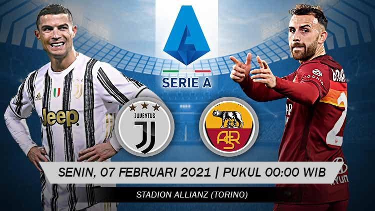 Pertandingan Juventus vs AS Roma (Serie A). Copyright: © Grafis:Yanto/Indosport.com