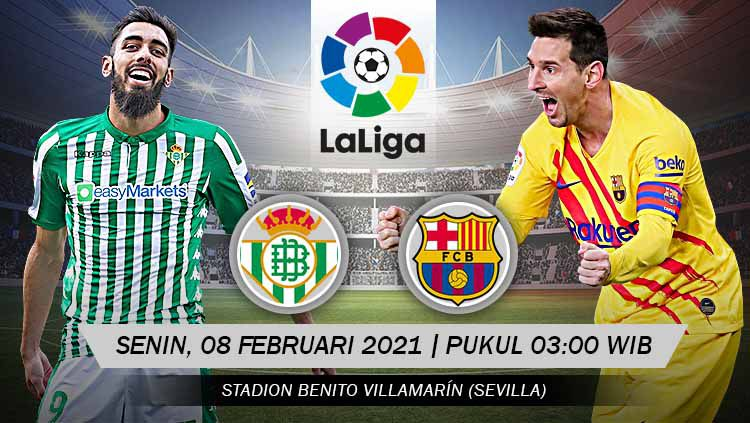 Pertandingan Real Betis vs Barcelona (LaLiga). Copyright: © Grafis:Yanto/Indosport.com