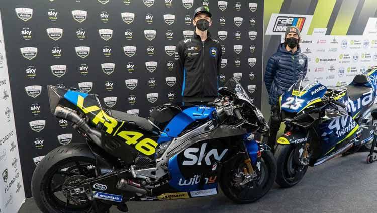 Tim Avintia Esponsorama Racing rilis livery baru untuk Luca Marini dan Enea Bastianini di MotoGP 2021. Copyright: © Instagram/@skysportsmotogp