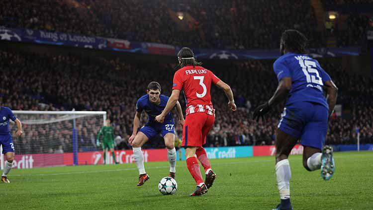 Chelsea vs Atletico Madrid. Copyright: © Yunus Dalgic/Anadolu Agency/Getty Images