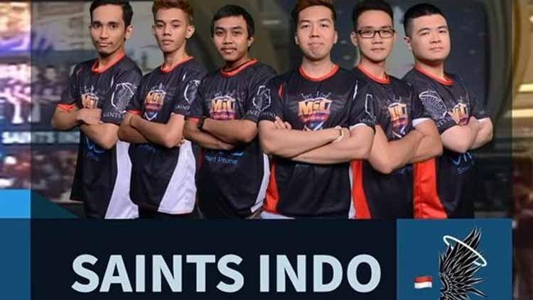Saints Indo siap kembali meramaikan kancah eSports nasional hingga internasional. Copyright: © Instagram/@saints_indo