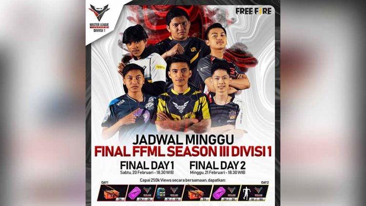 Final FFML Season III Divisi 1. Copyright: © Instagram@ff.esports.id