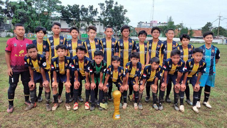 Kesebelasan Depok City FC U-14. Copyright: © Indra Citra Sena/INDOSPORT
