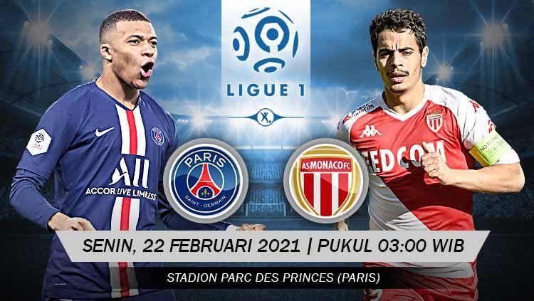 Pertandingan Paris Saint-Germain vs AS Monaco (Ligue 1). Copyright: © Grafis:Yanto/Indosport.com