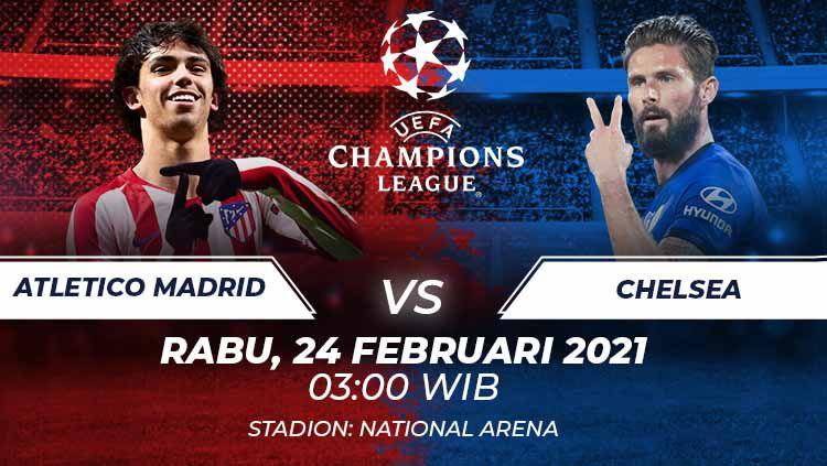 Atletico Madrid akan menghadapi Chelsea di leg 1 babak 16 besar Liga Champions, Rabu (24/02/21) dini hari. Berikut duel antarlini yang akan tersaji di laga itu. Copyright: © Grafis:Frmn/Indosport.com