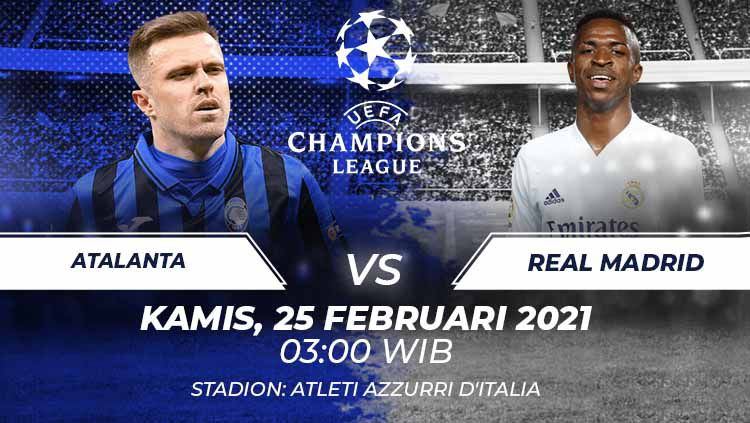 Atalanta vs Real Madrid. Copyright: © Grafis:Frmn/Indosport.com