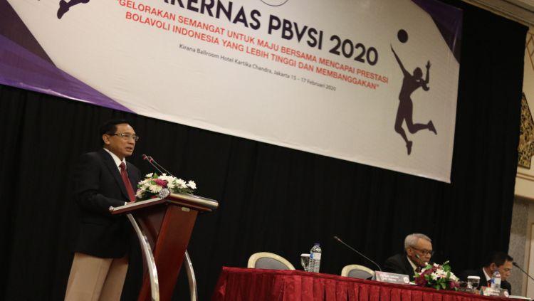 Rapat Kerja Nasional PBVSI 2020. Copyright: © Humas PBVSI