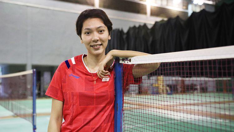 Pebulutangkis ganda campuran Indonesia, Gloria E. Widjaja curhat soal kegagalannya bersama Hafiz Faizal lolos ke Olimpiade Tokyo 2020. Copyright: © Humas PBSI