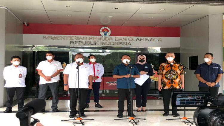 Rapat koordinasi Menpora RI dan IBL. Copyright: © Humas IBL