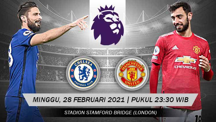 Pertandingan Chelsea vs Manchester United (Liga Inggris). Copyright: © Grafis:Yanto/Indosport.com