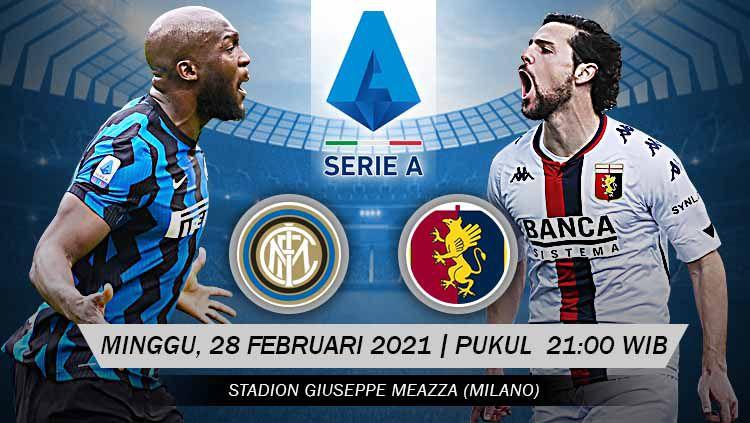 Pertandingan Inter Milan vs Genoa (Serie A). Copyright: © Grafis:Yanto/Indosport.com