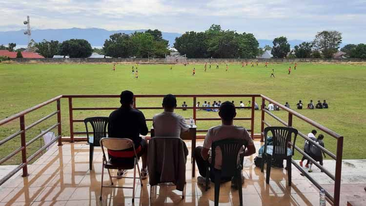 Kontestan Liga 2, PSG (Putra Safin Group) Pati dan Safin Pati Football Academy (SPFA) tengah menjalani progam Goes to Maluku Utara copyright: Media Officer PSG Pati Copyright: © Media Officer PSG Pati
