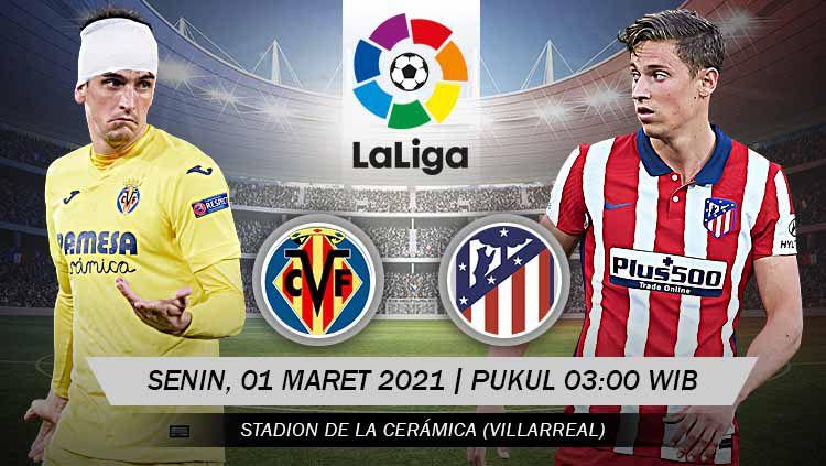 Berikut prediksi pertandingan LaLiga Spanyol antara Villarreal vs Atletico Madrid. Copyright: © Grafis:Yanto/Indosport.com